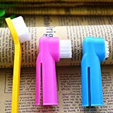 Foodie Puppies 3 Pcs Soft Cleaning Dental Rubber Finger Toothbrush for Dogs (Color May Vary)
