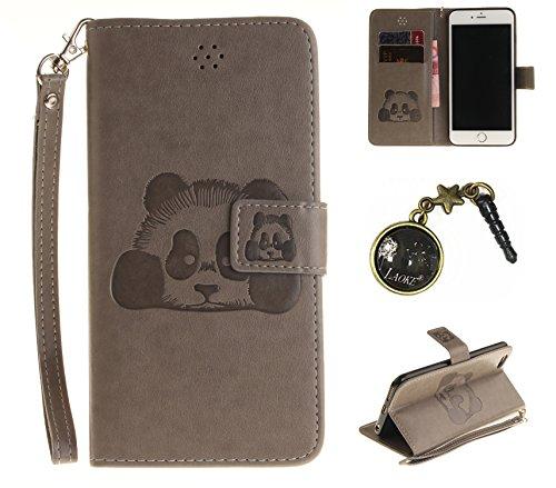 PU für Apple iPhone 6 (4.7 Zoll) Hülle, Prägen Panda Handyhülle / Tasche / Cover / Case für das Apple iPhone 6 (4.7 Zoll) PU Leder Flip Cover Leder Hülle Kunstleder Folio Schutzhülle Wallet Tasche Etu 1