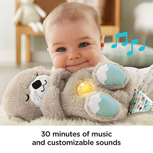 Schlummer Otter Spieluhr aus Plüsch beruhigender Musik, Licht und Atembewegungen, Einschlafhilfe für Babys - und, Spieluhr, Schlummer, Plüsch, Otter, Musik, Licht, Geburt, FXC66, für, FisherPrice, einschlafhilfen, einschlafhilfe, DER, beruhigender, Babys, Aus, Atembewegungen