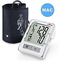 Tensiómetro de Brazo, APULSE Automático Monitor Digital de Presión Arterialy con Pantalla LCD Grande y
