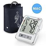 Digitales Blutdruckmessgerät Oberarm APULSE, exklusivem MAC-Modus für genauere Messwerte Automatische Blutdruck- und Pulsmessung 2 x 120 Speicherbare Messungen inkl. Aufbewahrungsbox(Weiß)