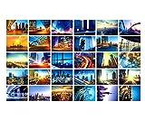 30 PCS kreative Kunst-Gruß-Karten Schöne Weltlandschafts-Foto-Postkarten, A2