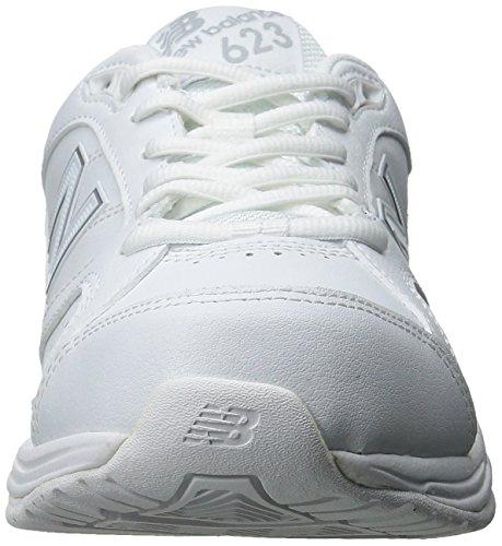 New Balance Women's WX623V3 Training Shoe, White/Silver, 10 B US White/Silver