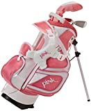 Merchants of Golf Tour X Pink 3-Piece Junior Golf Complete Set with Stand Bag, Right Hand, Regular