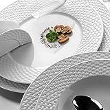 Kütahya Porselen 24-TLG Polo Tafelservice 6 Per Porzellan ESS-Service Dinner Set Luxus Verlobung Feier Hochzeit Verlobung Geburtstag