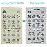 New ersetzt Bose Wave Music System Fernbedienung Weiß Kompatibel mit Bose Wave Radio II, awr1b1, awr1b2awrcc-3,4,5,6,7, BWMS awrcc1awrcc2awrcc3awrcc4awrcc5awrcc6awrcc7awrcc8