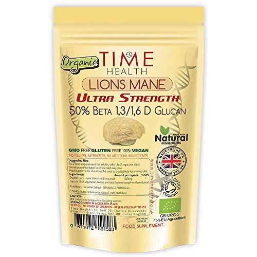 us (Lions Mane) Extrakt Kapseln - Hochdosiert 425 mg pro Kapsel - Sehr Stark - 50% Beta 1,3/1,6 D Glucan - Natürlich - Vegan - Ohne Zusätze ()