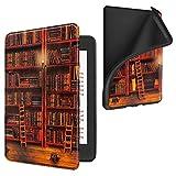 FINTIE Custodia per Kindle Paperwhite (10a Generazione- 2018) - Super Leggero Soft Cover Posteriore in TPU con Funzione di Auto Svegliati/Sonno per Amazon Kindle Paperwhite, Biblioteca