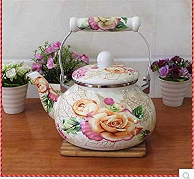 Bouilloire Émaillée Bouilloire Théières 2 4L multi-fleur émail bouilloire/bouilloire/cuisinière à induction universel traitement de l'eau du théière