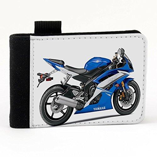 Moto 10015, Motocicletta, Nero Polyester Piccolo Cartella Congressi block notes Tasca Taccuino con Fronte di Sublimazione e alta qualità Design Colorato.Dimensioni A7-131x93mm.