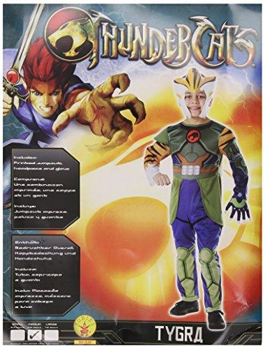Thundercats Kostüm - Rubie's Thundercats-Kostüm Tygra 41.4 x 28.7 x 5.6 grün