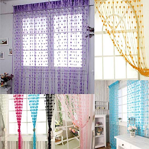 check MRP of heart string curtains SHOPEE
