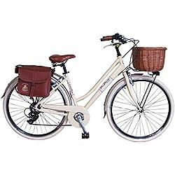 Via Veneto By Canellini Bicicleta Bici Citybike CTB Mujer Vintage Retro Via Veneto Aluminio Nata