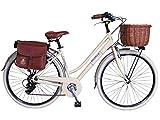 Via Veneto By Canellini Fahrrad Rad Citybike CTB Frau Vintage Retro Via Veneto Alluminium Beige