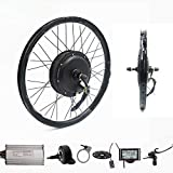 Wenhu Kit Bici elettrica per Bicicletta da 70Km / H 72V 2000W con Ruote Posteriori Kit Bici elettrica,28inch