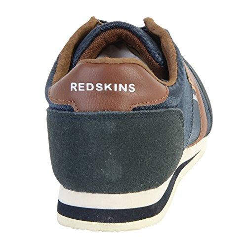 Chaussures Redskins Baskets en cuir Triolo marine cognac Multicolore
