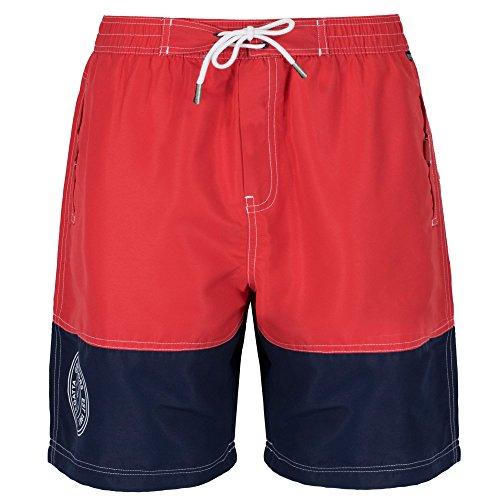 Regatta Mens Brachtmar Sporty Nautical Print Summer Swim Shorts Blue/Navy