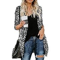 LILICAT® Blusa de Manga Larga con Estampado de Leopardo y Blusa de Manga Larga para Mujer (Azul, Verde, Gris, Rosa Fuerte, Amarillo)