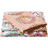 Trident Everyday 144 TC Cotton Double Bedsheet With 2 Pillow Covers - Modern, Multicolour