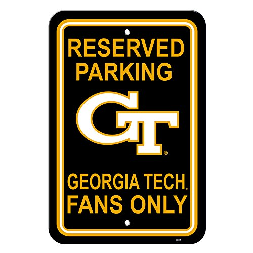 Fremont Die NCAA Georgia Tech Yellowjackets 12-by-18 Zoll Kunststoff Parken Schild -