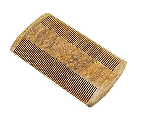 ACMEDE - Barbe Peigne En bois de santal vert Antistatique Peigne à moustache