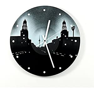Uhr Wanduhr Frankfurter Tor Schallplattenuhr Vinyluhr