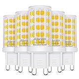 Albrillo 5er Pack 4.5W G9 LED Lampe 500 Lumen, 3000k warmweiß und Kein Flackern G9 LED Leuchtmittel Ersatz 50W G9 Halogenlampe, 360° Abstrahlwinkel