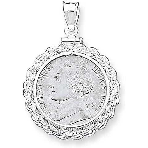 Icecarats Designer Di Gioielli In Argento Sterling 21,1 X 2 Mm 0,05 Dollari Corda Pendente Lunetta