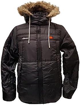 Ellesse para hombre Verna con capas Puffer Jacket, antracita, mediano