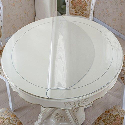 GAOJIAN Tissu à table ronde Imperméable et étanche au pvc Mosaïque à table en verre moulé Moule à table en cristal Plat en plastique Mats à café en plastique , a , 110cm circle