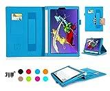 [Protection à l'angle] Lenovo Yoga Tablet 2 (8 Pouces) Étui Couverture, Fyy Étui Cuir Détachable avec Support Sangle Élastique Card Slots pour Lenovo Yoga Tablet 2 (8 Pouces) Azur (avec Fonction Sommeil/Réveil Automatique)