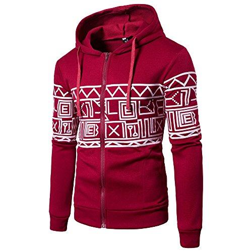 Chenang Kapuzenoberteil mit Langen Ärmeln für Herren Herren Fleece-Hoodie Kapuzenpullover aus 100% Baumwolle mit Logo M~2XL Herren Sweatshirt Hooded Sweat -