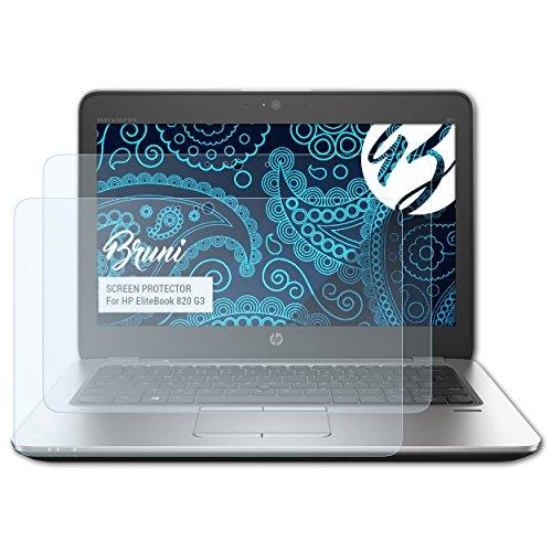 Bruni HP EliteBook 820 G3 Folie - 2 x glasklare Displayschutzfolie Schutzfolie für HP EliteBook 820 G3