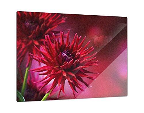 Klebefieber Glas-Schneidebrett Blütentraum B x H: 39cm x 28cm