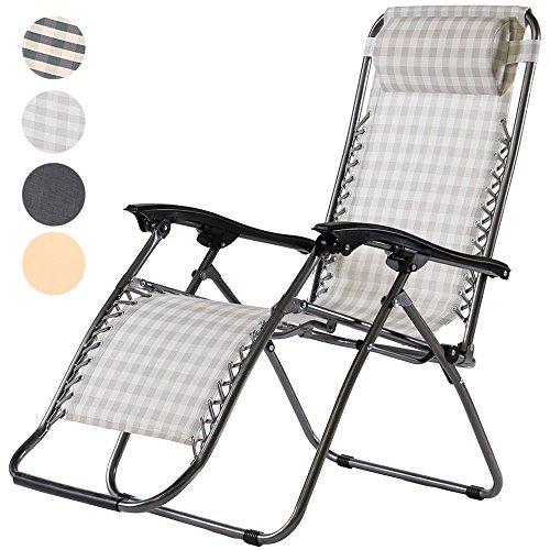 Charles Jacobs Zero Gravity Reclining Chair - Mocha Stripe