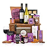 Silent Night Basket - Christmas Hamper Gift - Ideal for Customers, Employees, Family and Friends - Wine and Food Hamper - in Traditional Wicker Basket