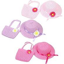 8b2bcb98e92da TOYMYTOY 3 Juego de sombreros de paja de girasol para niña y artículos de  fiesta de