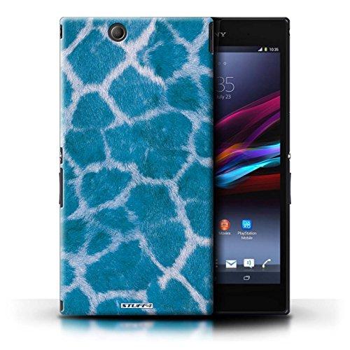 Kobalt® Imprimé Etui / Coque pour Sony Xperia Z Ultra / Bleu conception / Série Girafe animale Peau/Motif Bleu