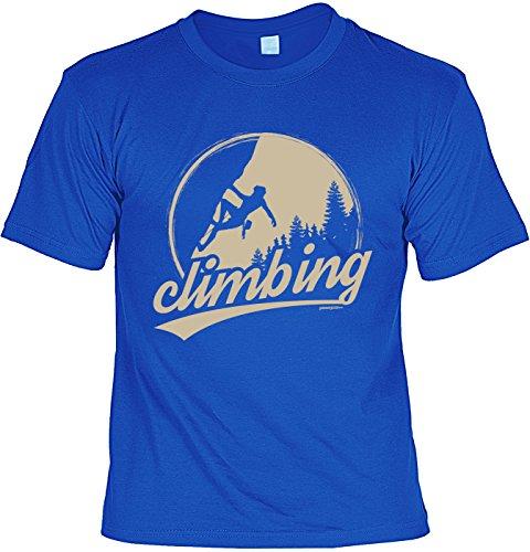 Wander T-Shirt Shirt Climbing Bergsteiger Wandertour Pilgern Alpinisten Ski Tour Wander Tour Wanderkleidung Royalblau