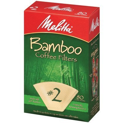 Melitta 63117 #2 Bamboo Filters 80 Count by Melitta