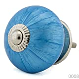 Keramik Vintage Möbelknopf Nr 0008 Jay Knopf 1 Blau Blautöne 16001-E R4-255 K8 Shabby Chic Retro Porzellan Griff Knauf