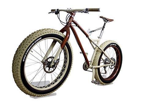trelixx Soporte de Pared para Bicicleta acrílico Transparente (Acabado láser) Idóneo para fatbike, Soporte de diseño para Bicicleta con Montaje en la Pared