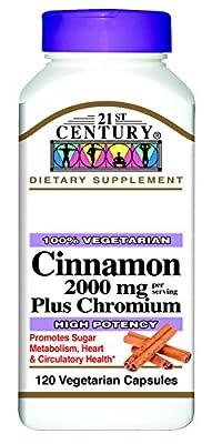 21st Century Health Care, Cinnamon Plus Chromium, 120 Veggie Caps by 21st Century