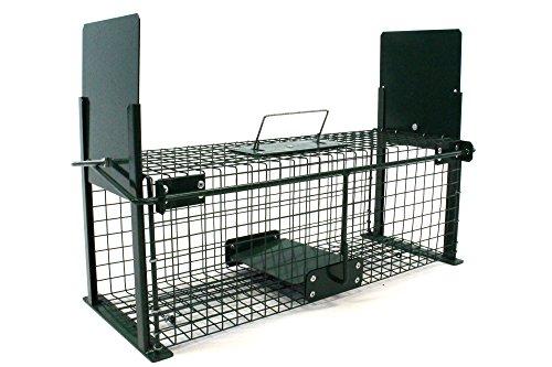 Piege a rat - Piège animaux - Piège de rongeurs - rat taupier - 50x18x18cm - double saisie