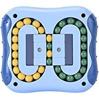 Intelligence Fingertip Cube Jouet éducatif Magic Bean Rotatif pour enfants et adultes Plastique Toy (Bleu)