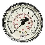 Manometer Reifenfüller 10 bar 145 psi, G1/4