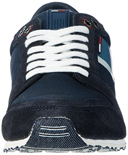 Tommy Hilfiger S2385print 2c1, Sneakers Basses Homme Bleu (Ink 006)