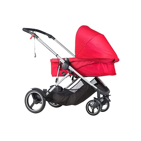 "phil&teds Voyager Buggy Pushchair, Red phil&teds 4-in-1 modular seat Modes include parent facing, forward facing, lie flat & lie flat off the buggy 12"" aeromax puncture free wheels 6"