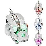 Ratón de juego, 4,800 DPI programable 8 botones Cable USB ratón mecánico de - Best Reviews Guide