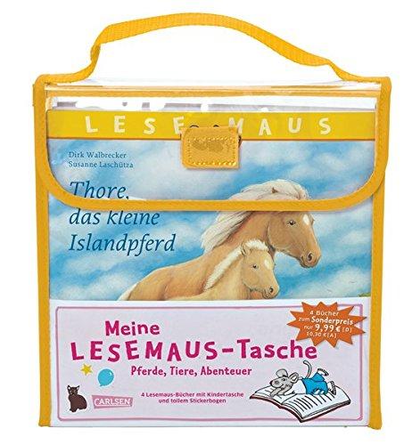 Meine Lesemaus-Tasche – Pferde, Tiere, Abenteuer: Kindertasche mit 4 Lesemaus-Büchern und Stickerbogen - Stiftung Tasche